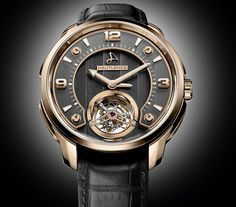 Hautlence Tourbillon 01 Watch By H. Moser & Cie.​ - see Ariel's piece and learn more about it over at Forbes​ - then see our hands-on article and pictures of the H. Moser & Cie. Venturer Dual Time Tourbillon watches that share this same tourbillon movement:http://www.ablogtowatch.com/h-moser-cie-venturer-dual-time-tourbillon-watches-including-sapphire-skeleton/