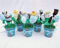 5 Baby Boy Shower Centerpiece Decorations by babyblossomco on Etsy