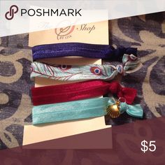 Hair ties Made of fold over elastic. Cut at 9 in. Accessories Hair Accessories