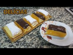 Como Faço Delícias - YouTube Waffles, Deserts, Food And Drink, Breakfast, Tarts, Youtube, New Recipes, Sweet Recipes, Pastries