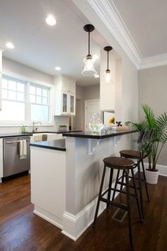 kitchen is 13' (fridge/stove wall) x 11' 6