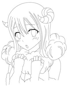 Fairy Tail - Aries Line Art by TallGuy94