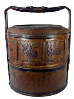 Chinese Woven Wedding Basket on Chairish.com