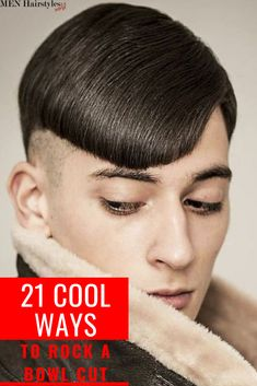 The bowl haircut is eccentric, but the end result is totally worth it! The Bowl Cut always finds its way into the latest trends! High Top Fade Haircut, Temp Fade Haircut, High And Tight Haircut, Taper Fade Haircut, Tapered Haircut, Bowl Haircuts, Haircuts For Curly Hair, Hairstyles Haircuts, Haircuts For Men