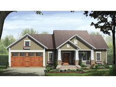 Home Plan HOMEPW76706 is a gorgeous 1627 sq ft, 1 story, 3 bedroom, 2 bathroom plan influenced by + Cottage  style architecture.