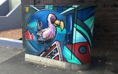 Artist Paul Walsh from Auckland, New Zealand started a crowdfunding campaign in 2013 to paint utility boxes for his hometown.