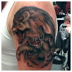A piece that Tommy got to work on. Tattoo Nightmares, Cover Up Tattoos, Animals, Tattoos Cover Up, Animales, Animaux, Animal, Animais, Covering Tattoos