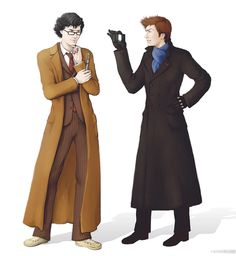 The Best, Worst, And Weirdest Doctor Who/Sherlock Crossover Fan Art- #28 made me giggle and laugh very loudly