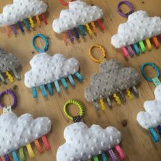 Bea spoke cloud rainbow ribbon tag plush comforter by beaspokeetsy Handgemachtes Baby, Baby Kind, Baby Toys, Sewing Projects For Kids, Sewing For Kids, Sewing Crafts, Rainbow Ribbon, Rainbow Baby, Sewing To Sell
