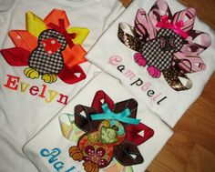 LOVE these ribbon thanksgiving shirts!!!