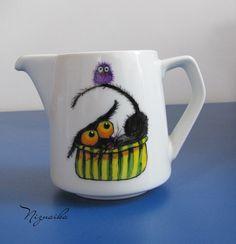 painted mug3 Mugs, Wood, Tableware, Glass, Painting, Dinnerware, Woodwind Instrument, Drinkware, Tumblers