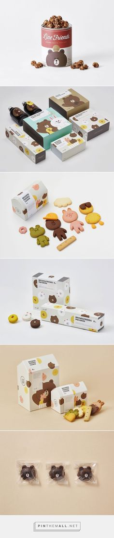 The Award-Winning Packaging Of LINE Café's Snacks via DesignTAXI.com curated by…