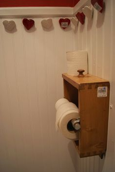 nest full of eggs: Holiday 13 Ideas House -- drawer used as TP holder in the first floor bathroom #maudelovesbachmans