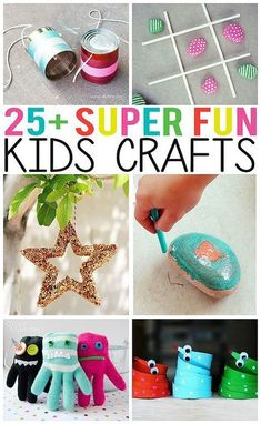 25+ Super Fun Kids Crafts. So many creative ideas for the kids! Easy Crafts for Kids