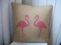 pink flamingos pillow