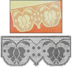 Flip the design to make a runner Filet Crochet Charts, Crochet Borders, Crochet Flower Patterns, Crochet Diagram, Crochet Art, Tapestry Crochet, Knitting Charts, Knitting Patterns, Weaving Designs