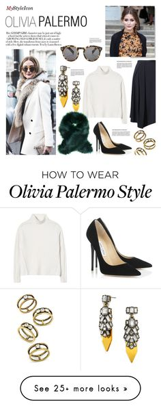 """""""Untitled #360"""" by zitanagy on Polyvore featuring BaubleBar, Rebecca Taylor and Jimmy Choo"""