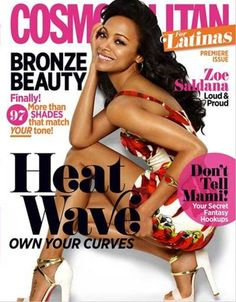 Actress Zoe Saldana on the cover of the May 2013 issue of Cosmopolitan Latina