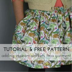 Tutorial and free patterns: Adding in-seam pockets to a garment – StraightGrain
