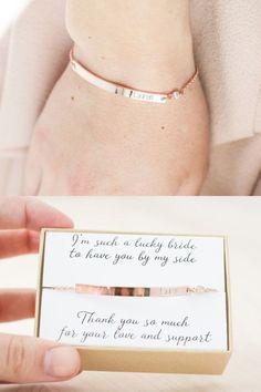 Bridesmaid Bracelet - Rose Gold Bridesmaid Jewelry - Bridesmaid Jewelry Rose…