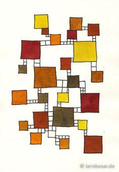 Quadrate mit Leitern