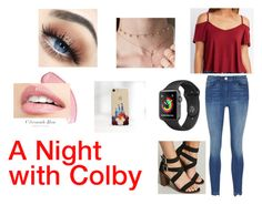"""""""A Night with Colby"""" by autumnn09 ❤ liked on Polyvore featuring Forever 21, Charlotte Russe, 3x1 and Disney"""