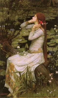 Painting by John William Waterhouse, an English painter known for working in the Pre-Raphaelite style.
