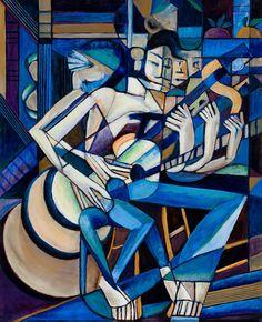 Descending Guitar Painting