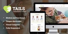Tails | Veterinary Clinic, Pet Care & Shop - Retail #WordPress Download here: https://themeforest.net/item/tails-veterinary-clinic-pet-care-shop/20328392?ref=alena994