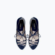 Image 2 of HIGH HEEL LACE-UP SANDALS from Zara
