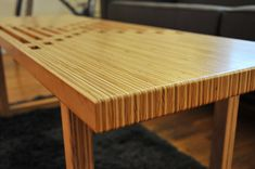 Handmade Birch Plywood Coffee Table / Bench by WorkshopHoney