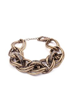 Tyler Bracelet in Antiqued Gold | Awesome Selection of Chic Fashion Jewelry | Emma Stine Limited