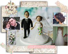 Deliciu Mic - Figurine de tort nunta mire si mireasa Bijuterii Handmade si Accesorii Handmade: CUTE - Figurine de tort pentru nunta - Mire s... Cake Toppers, Frame, Decor, Picture Frame, Decoration, Decorating, Frames, Deco