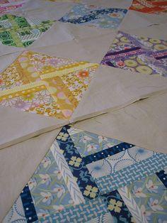 Pretty Colors - String HST Quilt Blocks