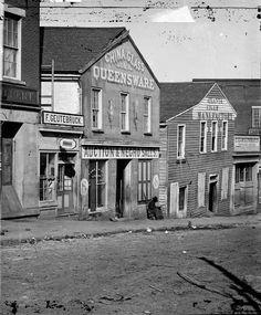 Atlanta's Thomas Frazer and Company slave auction house on Whitehall Street