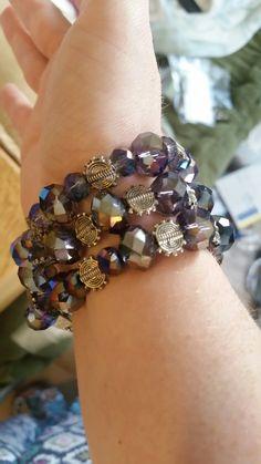 Sparkle jewel, wear as bracelet or necklace.  Magnet clasp closure