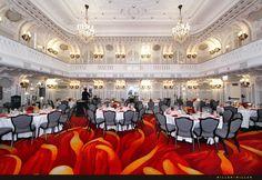 Sazzling 1910 Crystal Ballroom at The Blackstone, A Renaissance Hotel- Downtown Chicago | Miller + Miller Wedding Photography