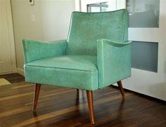 Fabulous vintage chair!! And I like the dark wood floors