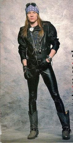 axl rose - wonder if this outfit took along time to put together... Love that backdrop too (not ;) )
