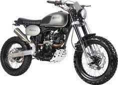La Bullit Hero 125 reprend fièrement les codes des motos de type Scrambler