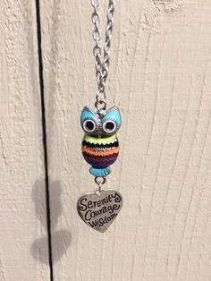Owl bracelet and necklace set, colorful owl jewlery, owl lover jewelry, ladies jewlery set, rainbow owl bracelet, inspirstional owl necklace