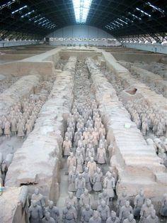 The Terracotta Army Xi'an, China  http://www.beijinglandscapes.com/beijing-xian-tour.html