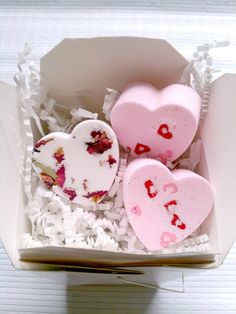 Be My Valentine Gift Box  Bath Bomb Hearts by WhippedUpWonderful, $9.99