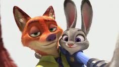 Download Nick Wilde and Judy Hopps Selfie Zootopia 1920x1080