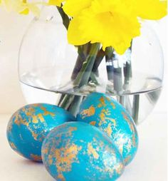 diy easter crafts   Pic for 50 Easter Crafts for Kids - Faux Gilded Eggs - Easter Craft ...