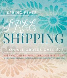 Spring for your favorite stencils now because we are offering FREE SHIPPING on orders $75 and over from 3/27/15 - 3/31/15!! Start Shopping, Start Saving: www.royaldesignstudio.com