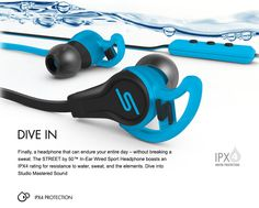 Headphones | SMS Audio - Studio Mastered Sound, Wherever you go - STREET by 50 In-Ear Wired Sport by SMS Audio