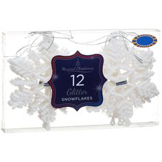 Decorate your tree this Christmas with stunning snowflake baubles. Packs of 12, they're all you'll need to glam up your Xmas tree over the festive period.