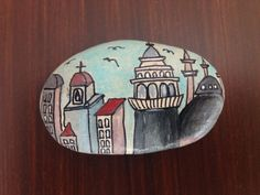 handpainted stone by CreativeShopIdeas on Etsy