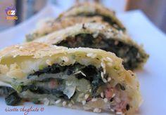 Strudel salato spinaci e salsiccia